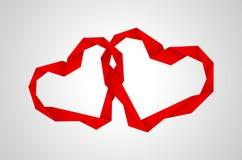 Coeurs de papier rouges Image libre de droits