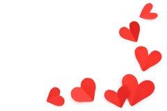 Coeurs de papier rouges Images libres de droits