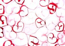 Coeurs de papier sur le fond blanc Photo stock
