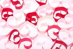 Coeurs de papier sur le fond blanc Image stock