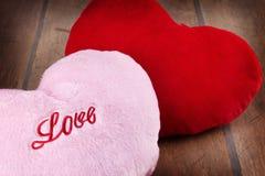 Coeurs de peluche Image libre de droits