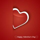 Coeurs de petit morceau de Valentine Day Card. Images libres de droits