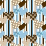 Coeurs de point de polka à l'arrière-plan sans joint de pistes Images libres de droits