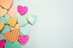 Coeurs de point de polka Photo libre de droits