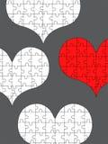 Coeurs de puzzle Photo libre de droits