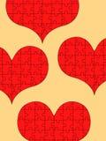 Coeurs de puzzle Photographie stock