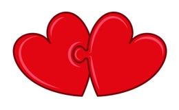 Coeurs de puzzle Images libres de droits
