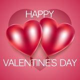Coeurs de rouge de ballons Illustration de vecteur Image libre de droits