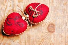 Coeurs de rouge de jour du ` s de Valentine Image stock