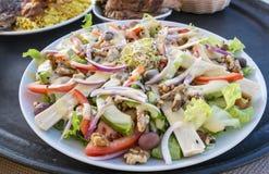 Coeurs de salade de paume et d'avocat Image stock