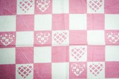 Coeurs de serviette de cuisine Photographie stock libre de droits