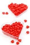 Coeurs de sucrerie de cannelle Image libre de droits