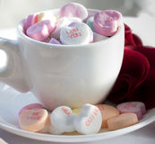 Coeurs de sucrerie de Saint-Valentin Photo libre de droits