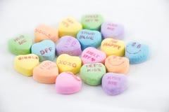 Coeurs de sucrerie de Saint-Valentin Photographie stock libre de droits