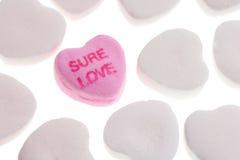 Coeurs de sucrerie du jour de Valentine Image stock