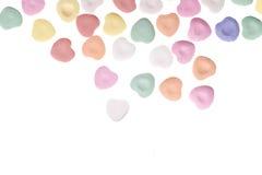 Coeurs de sucrerie du jour de Valentine Photographie stock