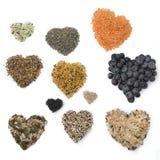 Coeurs de Superfood Image libre de droits