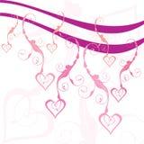 Coeurs de Swirly Photographie stock libre de droits