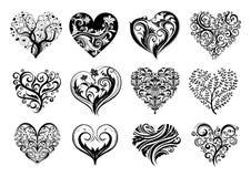 Coeurs de tatouage Photos libres de droits