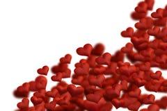 Coeurs de tissu Images libres de droits