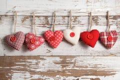 Coeurs de tissu photo libre de droits
