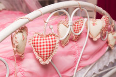 Coeurs de tissu Photo stock