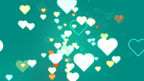 Coeurs de turquoise abstraite Images libres de droits