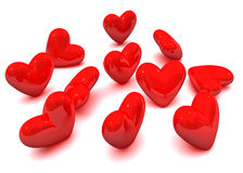 Coeurs de Valentine Images libres de droits