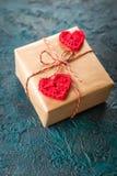 Coeurs de valentine de crochet Photos libres de droits