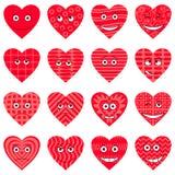 Coeurs de Valentine, smiley, positionnement illustration stock