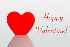 Coeurs de Valentine sur un fond en pastel simple Photo stock