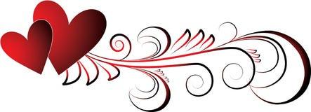 Coeurs de Valentines illustration de vecteur