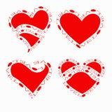 Coeurs de vecteur réglés Photo stock