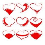 Coeurs de vecteur réglés Photos libres de droits