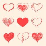 Coeurs de vecteur réglés, valentine Photographie stock libre de droits