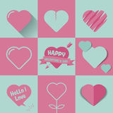 Coeurs de vecteur réglés, valentine Photos libres de droits