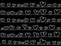 Coeurs de vecteur sur le noir Image stock