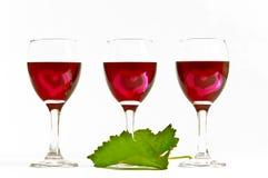 Coeurs de vin Images libres de droits