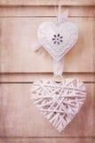 Coeurs de vintage avec la texture Image libre de droits