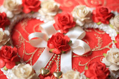 Coeurs de vintage de fleur rose Photos stock