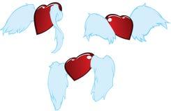 Coeurs de vol Image libre de droits