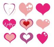 Coeurs dernier cri illustration stock
