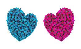 Coeurs des amants faits de papillons lumineux Jour du ` s de St Valentine Photographie stock libre de droits