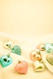 Coeurs doux de couleur pour le fond romantique Photographie stock