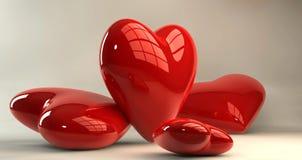 Coeurs du jour de Valentine illustration de vecteur