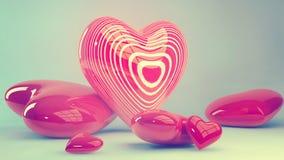 Coeurs du jour de Valentine illustration stock