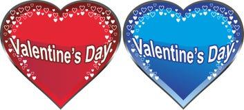 Coeurs du jour de Valentine Photo libre de droits
