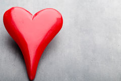 Coeurs du jour de Valentine Carte greating de Saint Valentin Photographie stock