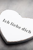 Coeurs du jour de Valentine Carte greating de Saint Valentin Photographie stock libre de droits