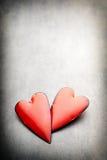 Coeurs du jour de Valentine Carte greating de Saint Valentin Images stock